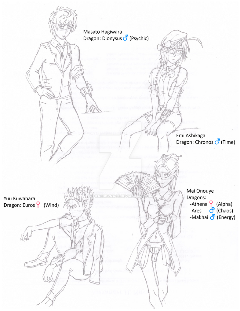 DH: The Quartet King Riders of Estrarath (Sketch) by TheRebornAce