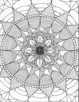 Inktober Day 13: Mandala (20pts to color)