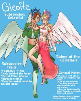 Gleoite Closed Species Info Sheet: Celestials