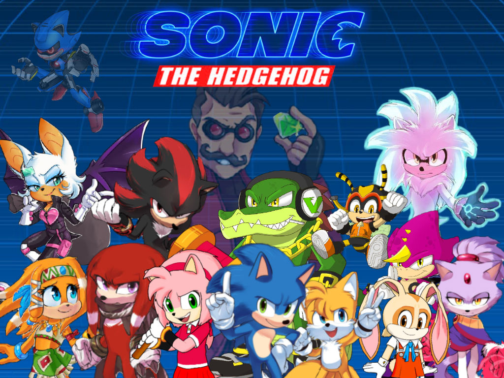 Sonic The Hedgehog Movie Characters Collection By Jame5rheneaz On