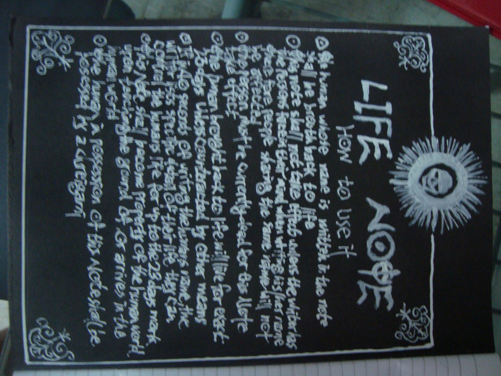 Life Note?? by yeegim