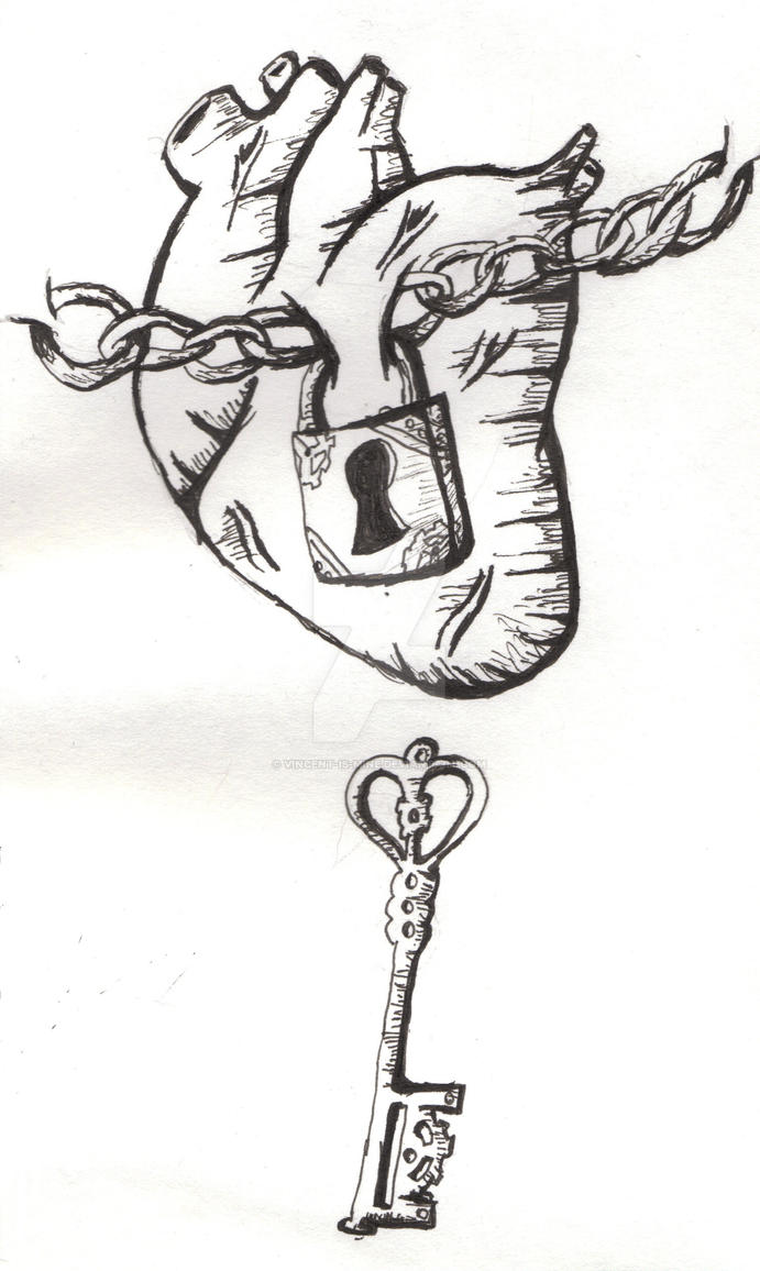 Key Art Design : Lock and key heart tattoo design by vincent is mine on