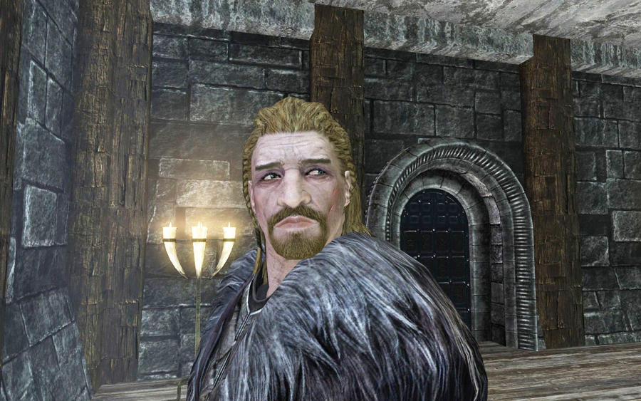 Skyrim Screenshots- Ulfric Stormcloak by vincent-is-mine