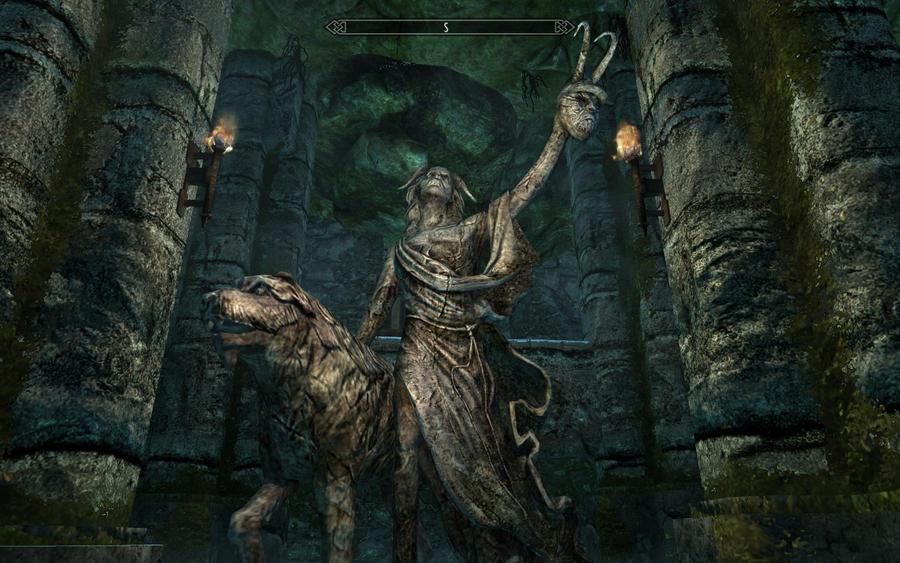 Skyrim Screenshots- Clavicus Vile Shrine by vincent-is-mine