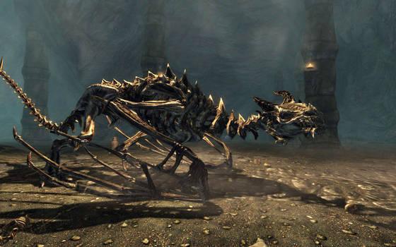 Skyrim Screenshots- Dragon Skeleton