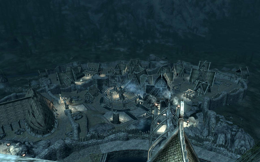 above is skyrim drawing - photo #3