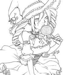 NeoTokyo Halloween Lineart