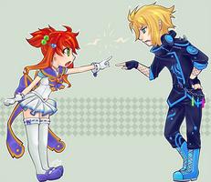 Lyra and Scheelite by lumi-mae