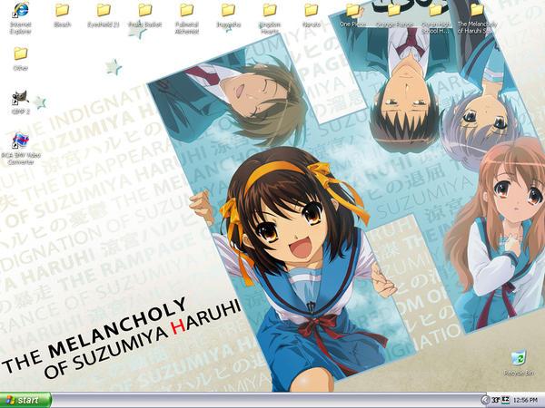 haruhi wallpaper. Haruhi Suzumiya Wallpaper by