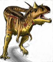 Carnotaurus WIP Complete by Creepy-Stag-Waffle