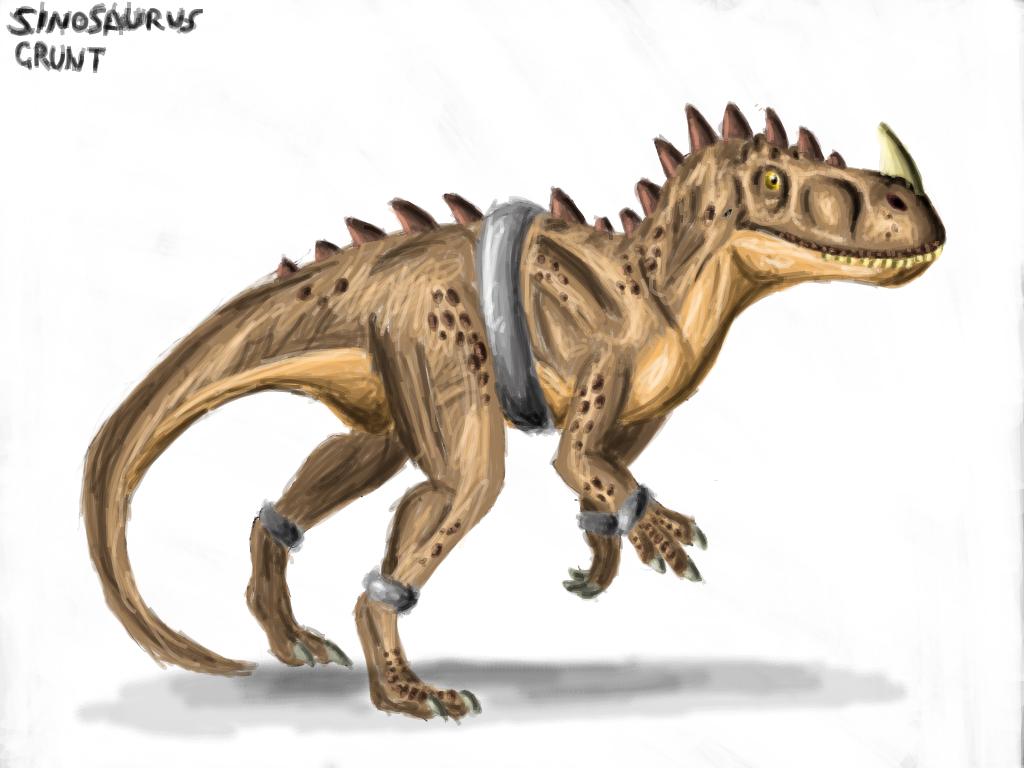 Sinosaurus Grunt by Creepy-Stag-Waffle