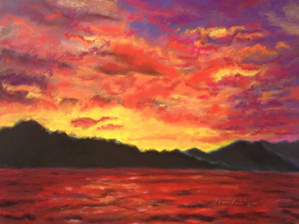 The Gallery For Soft Pastel Drawings Landscapes