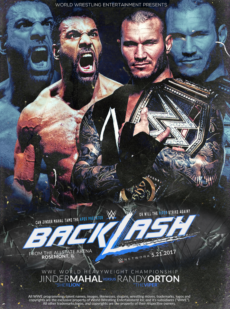 Custom Backlash 2017 Poster By Designs Swerve