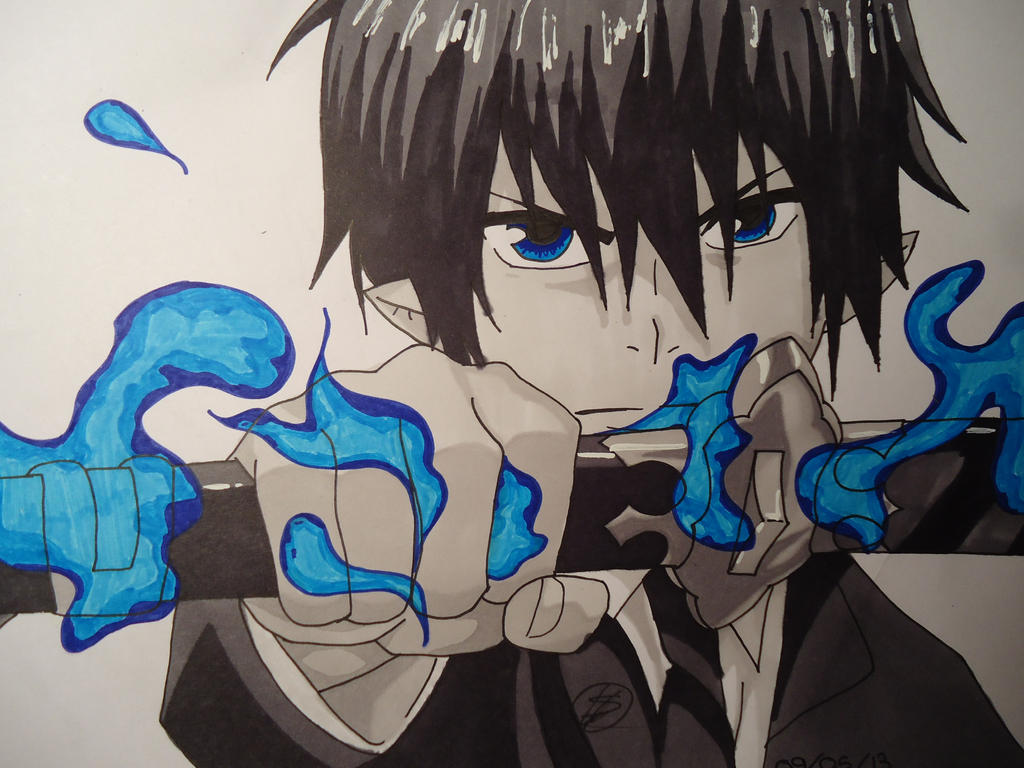 Rin Okumura // Ao no Exorcist by Draw--Of--Nalu