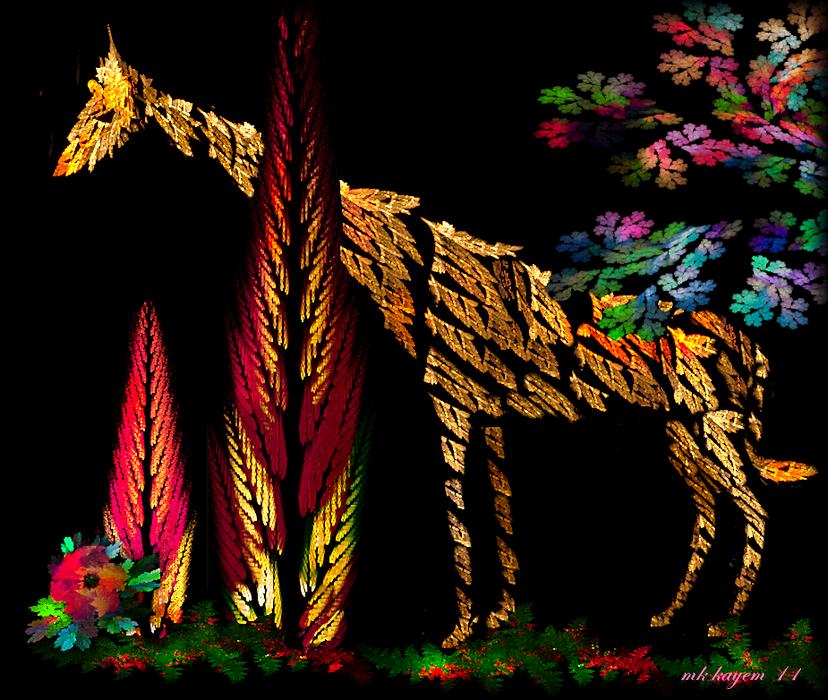 Fractal Giraffe by mk-kayem