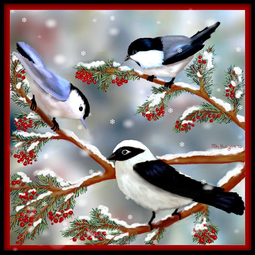 Winter Songbirds by mk-kayem