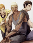 YJ: Wally, Kaldur, Kon