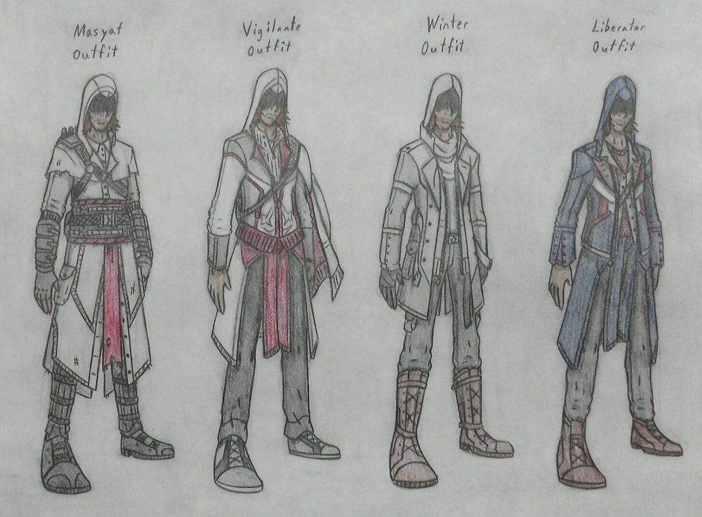 More Assassin Outfits by ModernDaVinci on DeviantArt