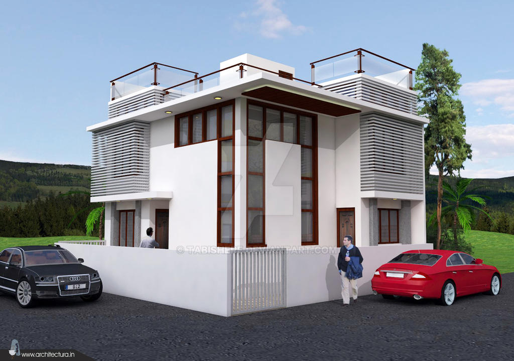 Modern house sketchup model image1 by tabishere on for Modern house sketchup