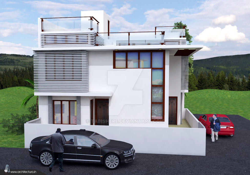 Modern House Sketchup Model Image2 by TABishere on DeviantArt