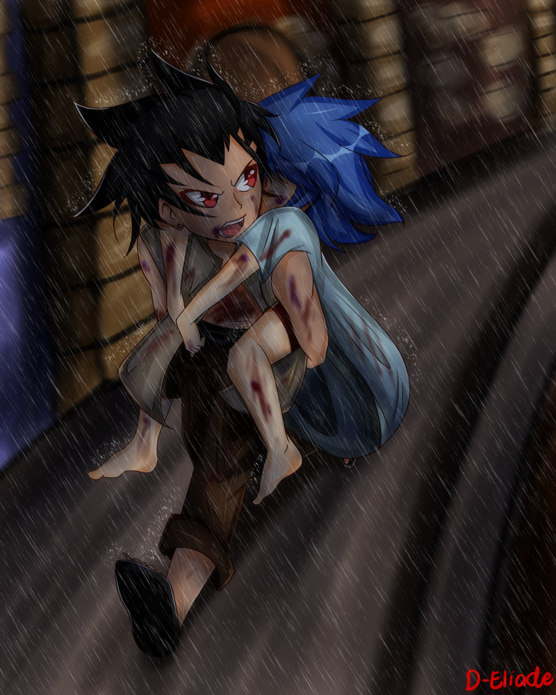 FT.:. Rain by D-eliade