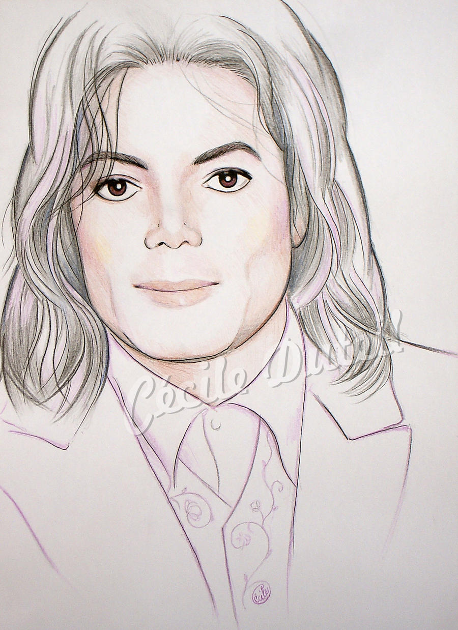 Michael Jackson - Serenity by CecileD73 on DeviantArt Easy Michael Jackson Drawing