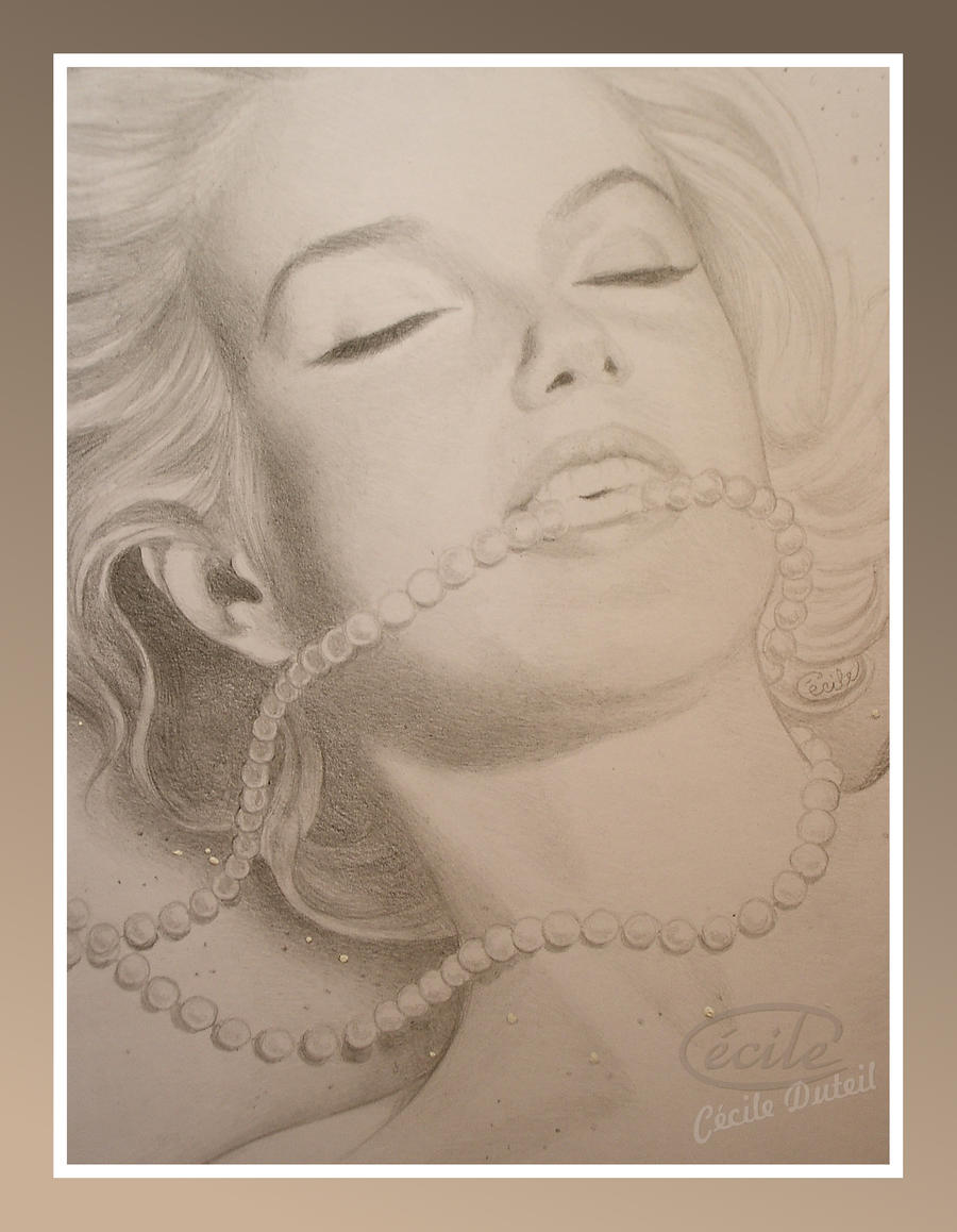 Marilyn Monroe - Pearls by CecileD73