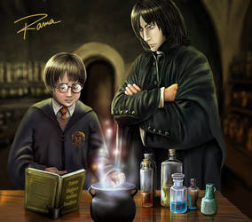 Harry and Snape