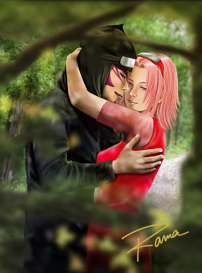 Sakura y Kankuro by RamaChan on DeviantArt  Kankuro And Sakura Kiss