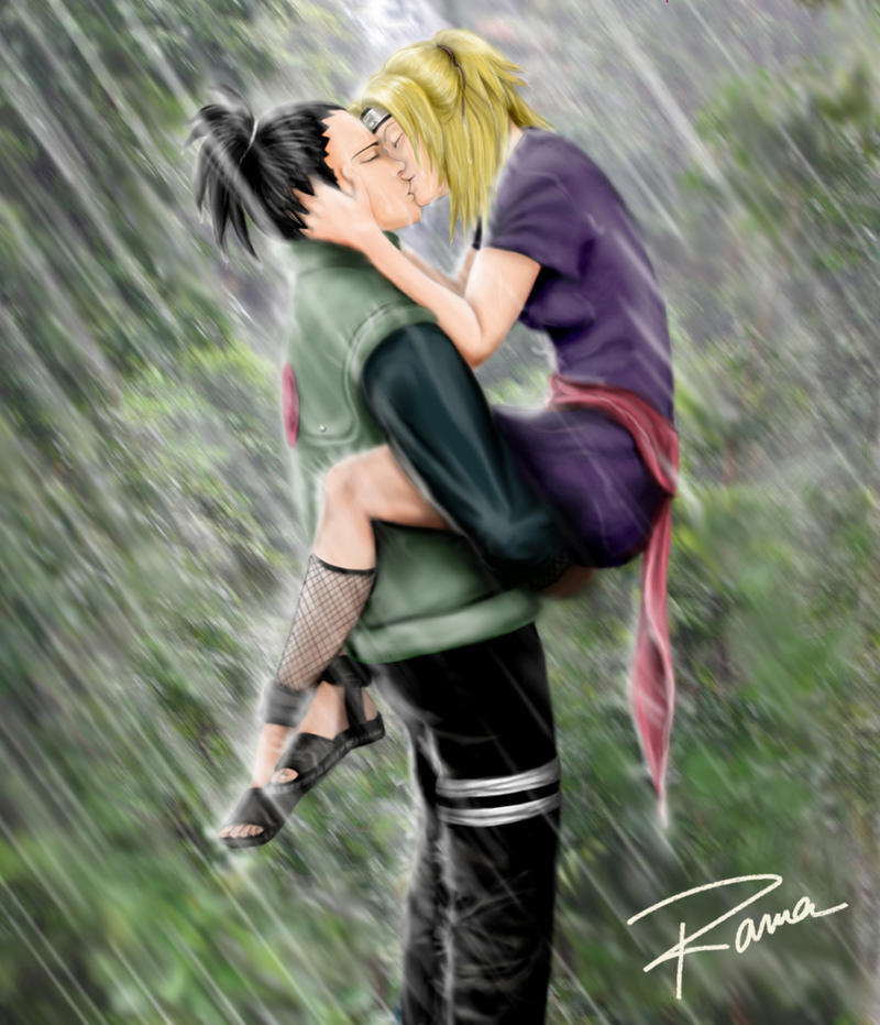Kiss Under The Rain By RamaChan On DeviantArt