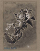 Sonic the Hedgehog(Charcole Rendering) by KikiFlamer