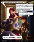 Comic -- Doctor Who and Red Riding Hood