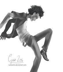 A Bit Hard To Dance (Greyscale) by tushantin
