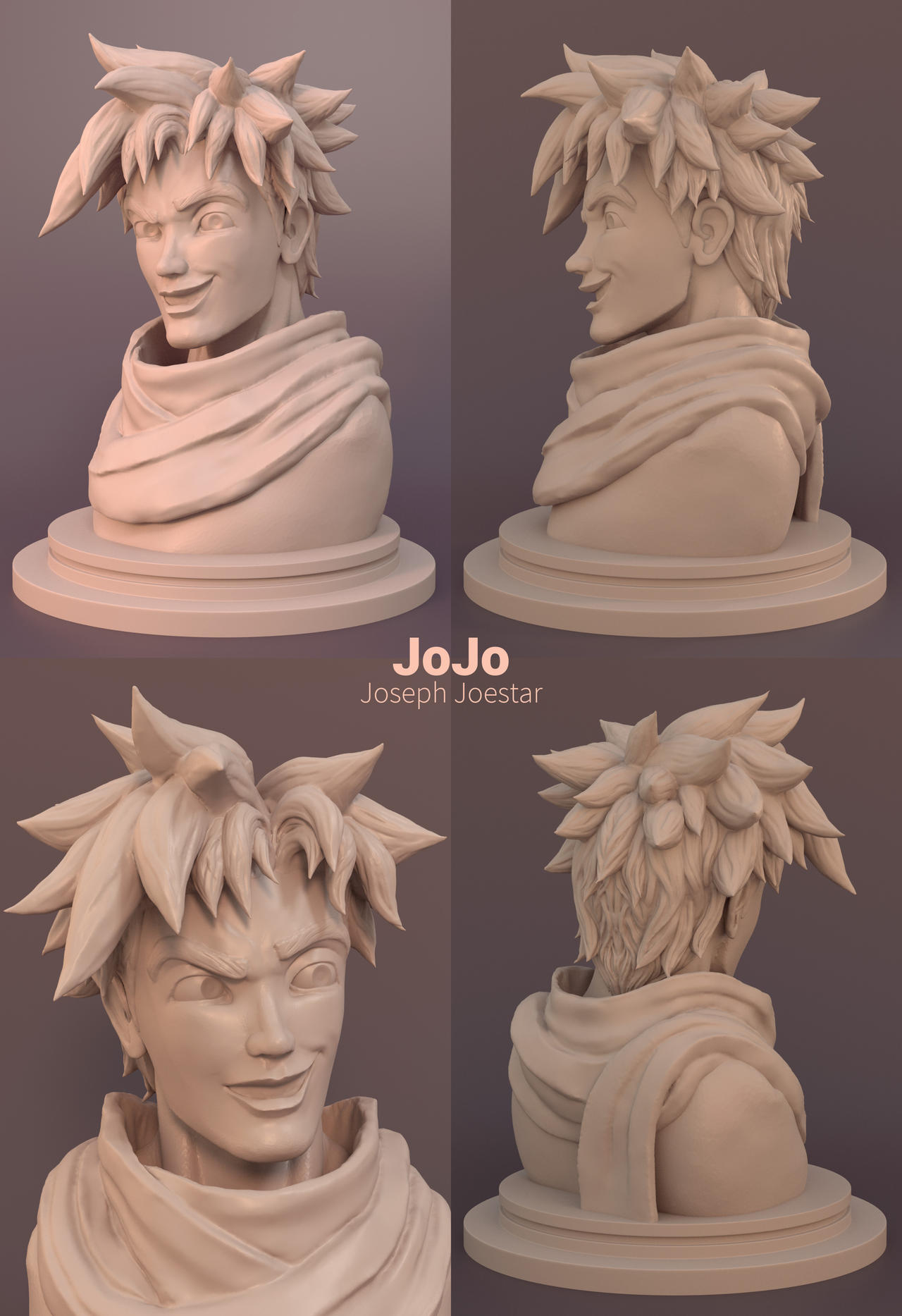 Joseph Joestar - JoJo Sculpt by tushantin