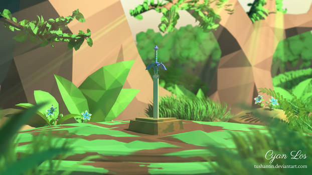 Low-Poly Master Sword (Breath Of The Wild)