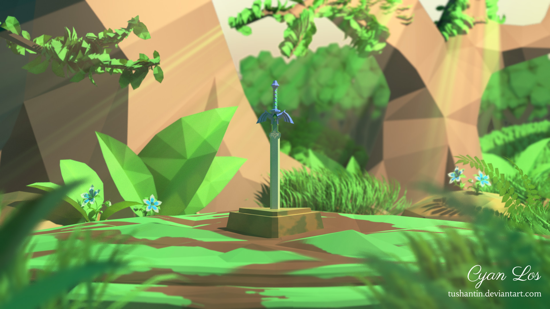 Low-Poly Master Sword (Breath Of The Wild) by tushantin