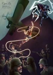 Wonder Woman - Lasso and Lightning by tushantin