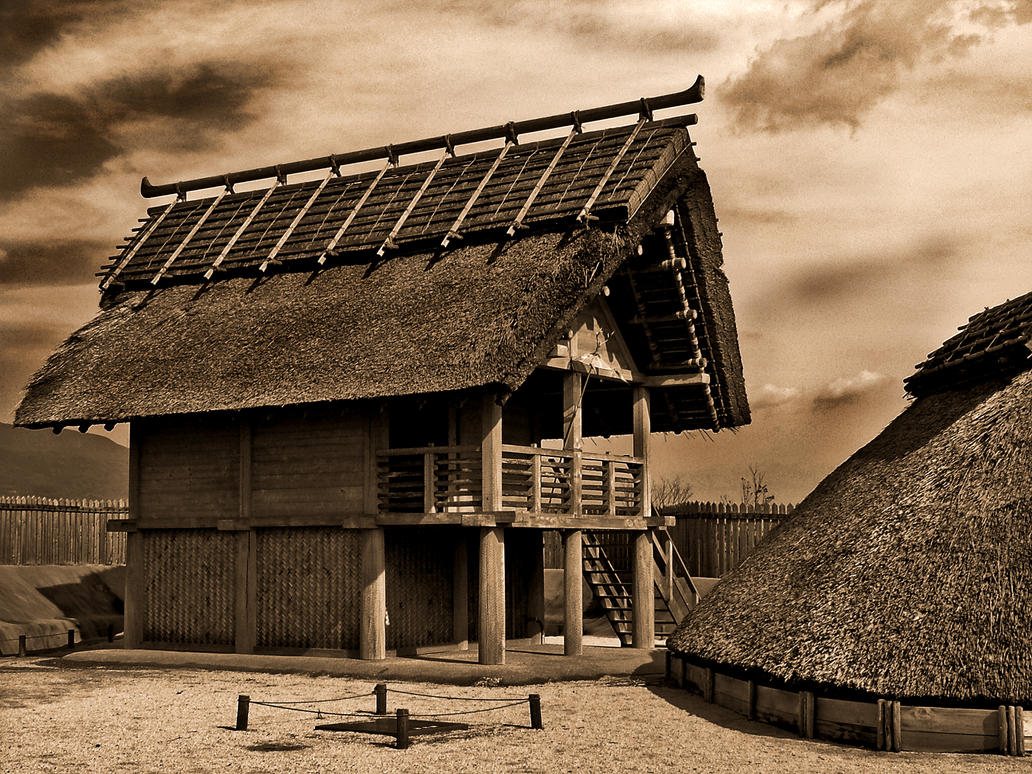Ancient japanese houses 1 by darthmiller on deviantart for Asian houses photos