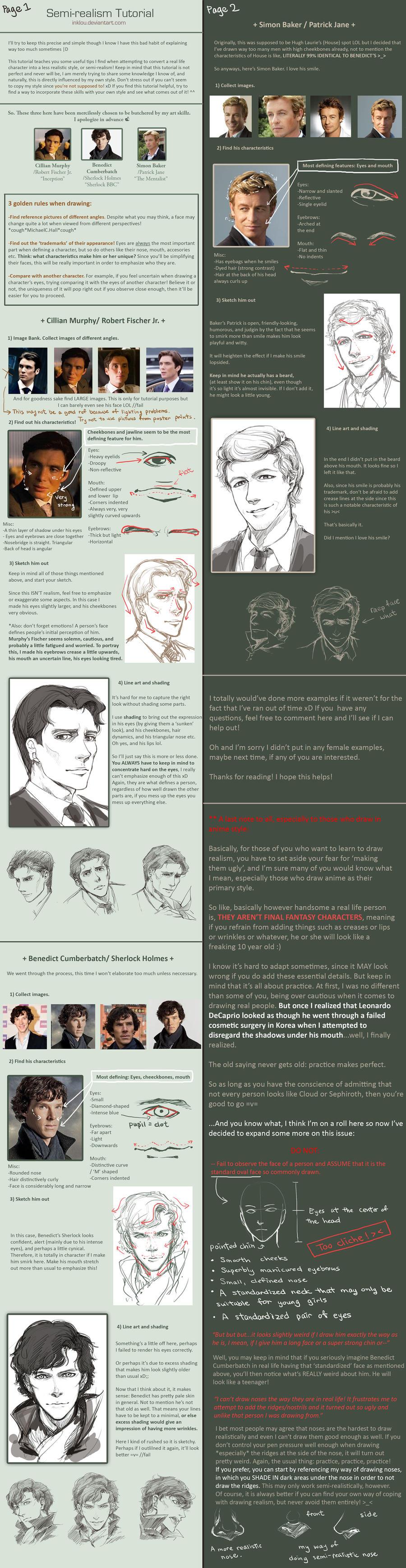 Semi-realism tutorial by inklou
