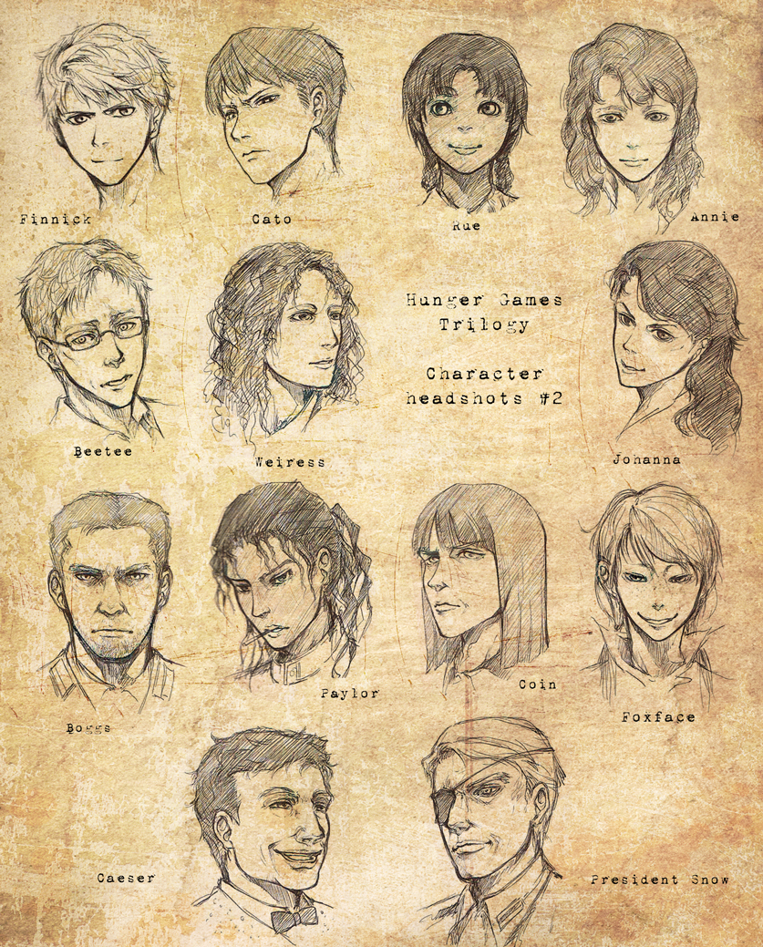 HUNGER GAMES Headshots 2 by inklou