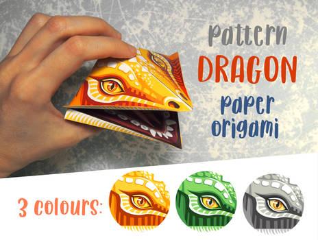 Dragon, paper origami
