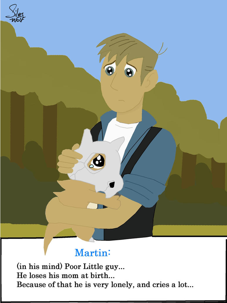 Martin Kratt and a Cubone by Okamiminoru