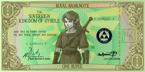 One Rupee Hylian Banknote by G33k1nd159153