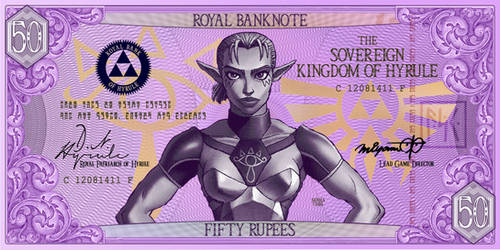 Fifty Rupee Hylian Banknote by G33k1nd159153