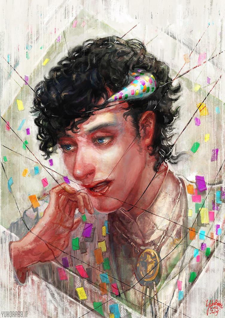 An illustration for 'Bel Homme Cafe 2012' by YukoRabbit