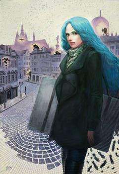 The illustration for Daughter of Smoke and Bone
