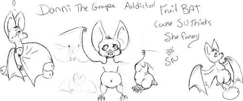 Danni bat sketches by stormnicki