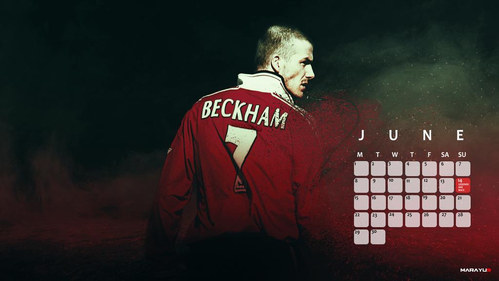 David Beckham Manchester United Wallpaper