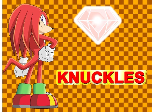 Knuckles and background by Sentien