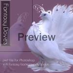 Fantasy Doves by mmebuterfly